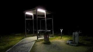 灯かりと夜の喫煙所
