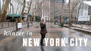 Winter in New York City   Broadway   Financial District   Tribeca   Travel Vlog