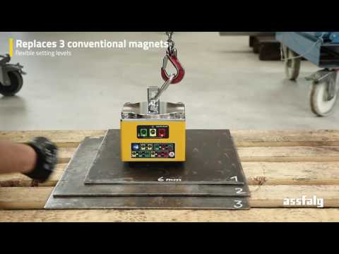 Assfalg Battery Lifting Magnet SB 500 - Product video