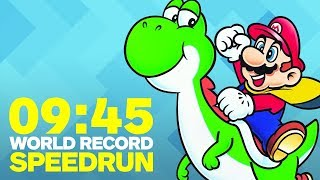 Super Mario World Finished In Under 10 Minutes (Speedrun) - Video Youtube
