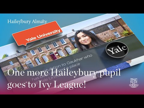 Haileybury pupil goes to Ivy League!