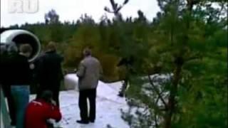 Аварийная посадка Ту-154 ИЗ САЛОНА  http://vkontakte.ru/club5751308