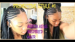KAY & KOSH / ALICIA KEYS | INSPIRED HAIR BRAIDS | TWO SIMPLE STYLES