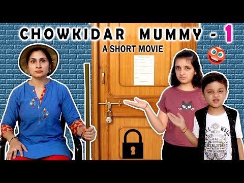 CHOWKIDAR MUMMY - A Short Movie #Funny Hindi Moral Story for kids | Aayu and Pihu Show