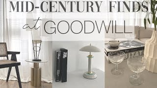 GOODWILL MID-CENTURY HOME DECOR / Thrift With Me/ AESTHETIC HOME DECOR!!