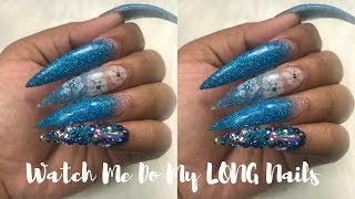 Watch me do my SUPER long nails | Beauty Big Bang