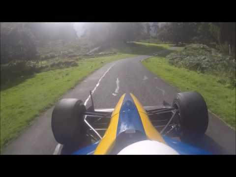 Awesome F1 Powered Car On Narrow Road