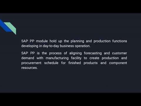 SAP PP Online Certification Course - YouTube