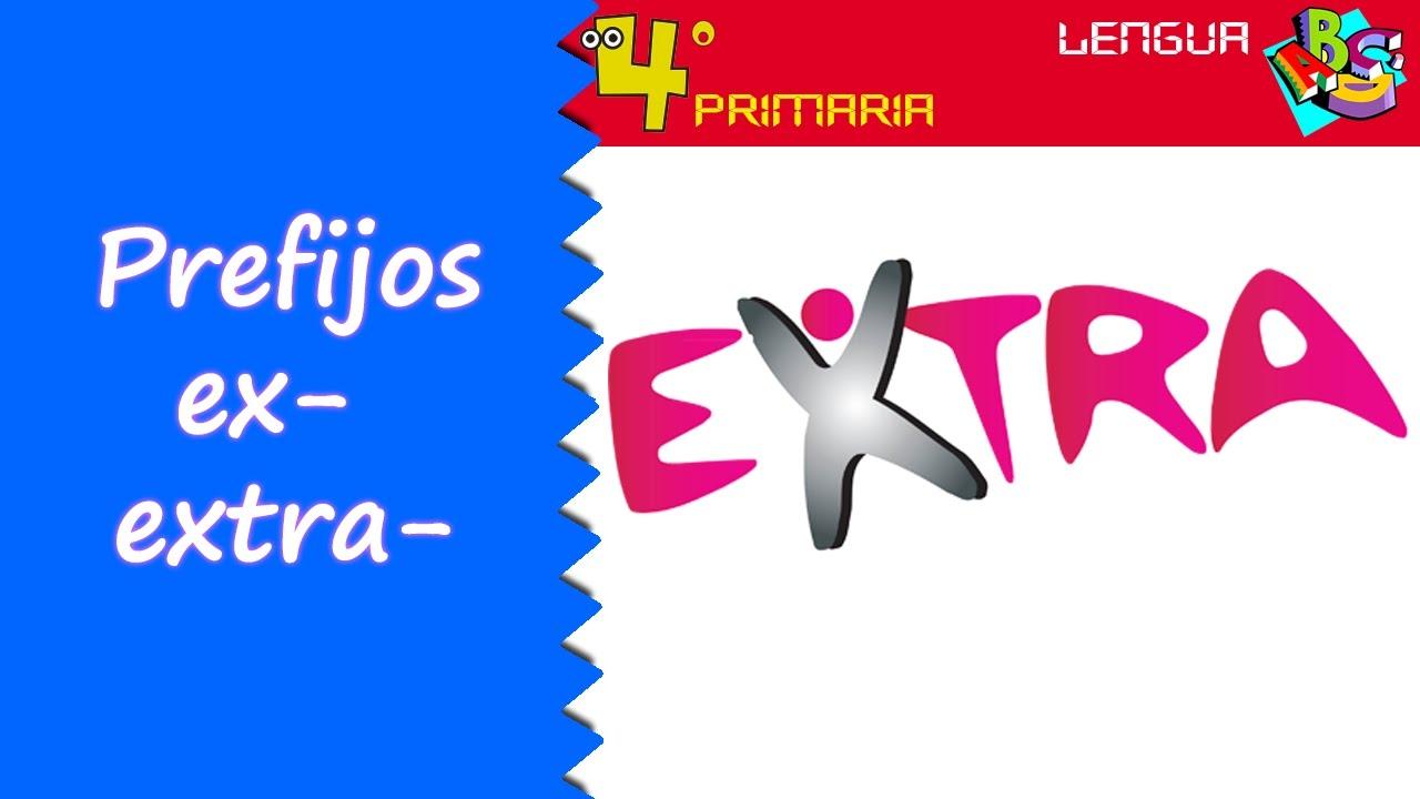 Lengua Castellana. 4º Primaria. Tema 12. Prefijos ex-, extra-