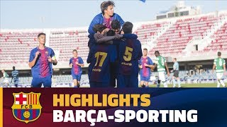 [HIGHLIGHTS] UEFA YOUTH LEAGUE: FC Barcelona – Sporting (1-1)