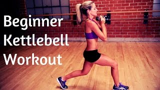 30 Minute Beginner Kettlebell Instructional Workout by BodyFit By Amy