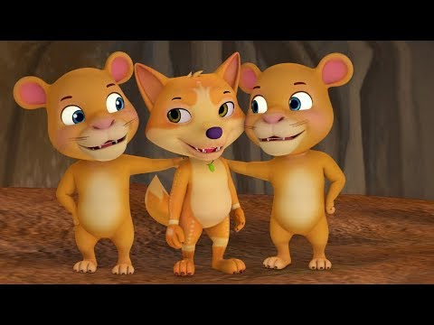 In One's Own Company - The Story of Lion and the Fox cub   Bengali Stories for Kids   Infobells