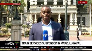 Suspension of train services in KZN: Mlungisi Khumalo