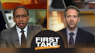 Stephen A. and Max react to Warriors defeating Rockets in Game 3   First Take   ESPN