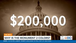 Why is the Washington Monument Two Colors