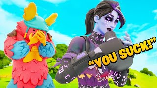 Fortnite Coach Helps Me Get My First Win | Voice troll GONE WRONG 😱