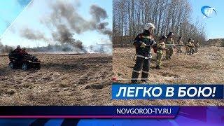 Новгородские спасатели отработали на практике свои навыки в борьбе со стихией