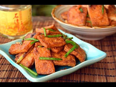 Fried Tofu Two Ways – Vegetarian Soy Sauce Fried Tof & Qing Dynasty Shrimp Tofu