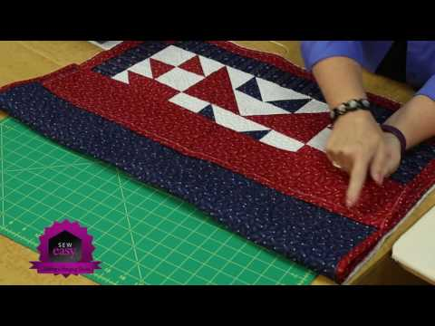 Sew Easy: Adding a Hanging Sleeve to Wall Quilts or any Quilt!