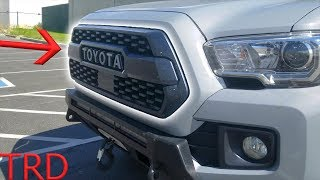 Tacoma TRD PRO 2018 Grill Install - WITH Sensor!
