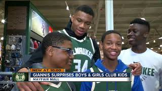 Giannis Antetokounmpo surprises kids with shopping spree, signed jerseys