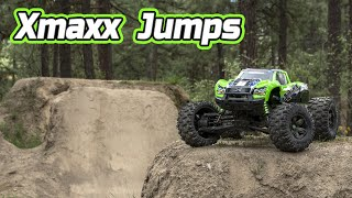 Traxxas Xmaxx 8s jumps, big air, and crashes