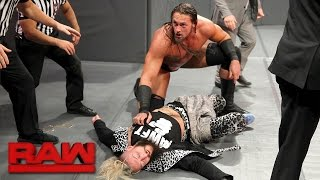 Before teaming with Big Cass and Seth Rollins to take on Samoa Joe, Luke Gallows and Karl Anderson, Enzo Amore is incapacitated by his would-be opponents.#RAWMore ACTION on WWE NETWORK : http://wwenetwork.comSubscribe to WWE on YouTube: http://bit.ly/1i64OdTMust-See WWE videos on YouTube: https://goo.gl/QmhBofVisit WWE.com: http://goo.gl/akf0J4