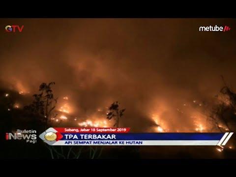 Diduga Ada Warga Bakar Sampah, TPA Panembong di Subang Terbakar - BIP 19/09