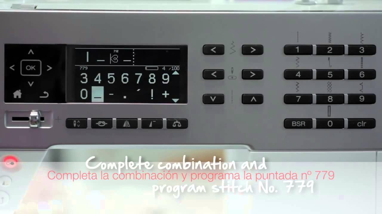 3/10 BERNINA 530 y 550 QE: Combinar letras y puntadas