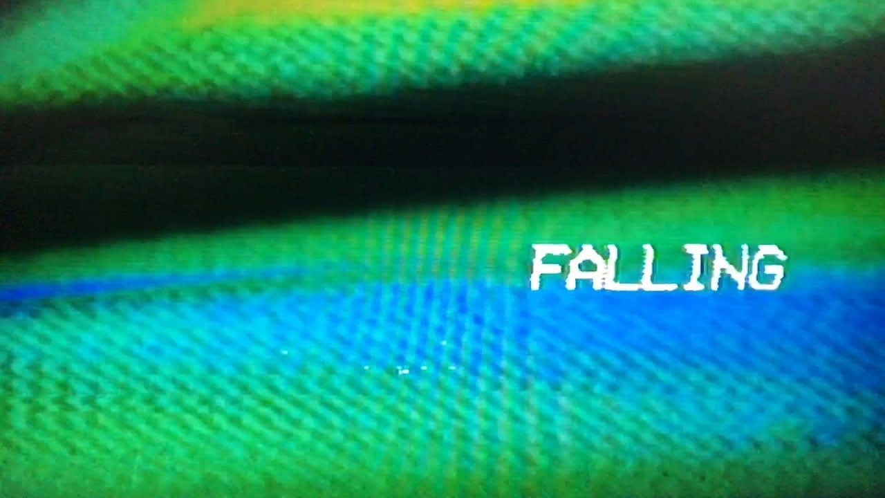 'Falling' video title screen.