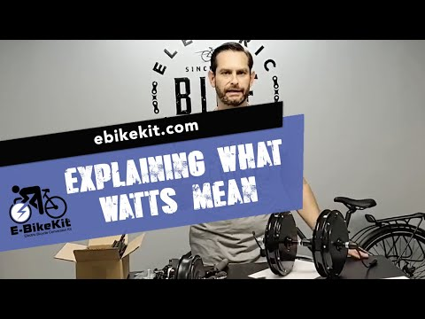 E-BikeKit | What does watts mean?