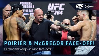 Conor McGregor and Dustin Poirier UFC 264 Ceremonial Face-off!