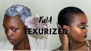 HOW I Texturized My TWA Hair Using (Curl My Way Texturizer)    Radiance First