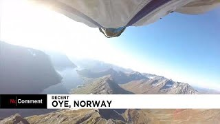 Flying over Norway's fjords