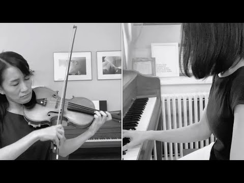 Maya Shiraishi plays dual roles on violin and piano for Dvořák's Humoresque No. 7