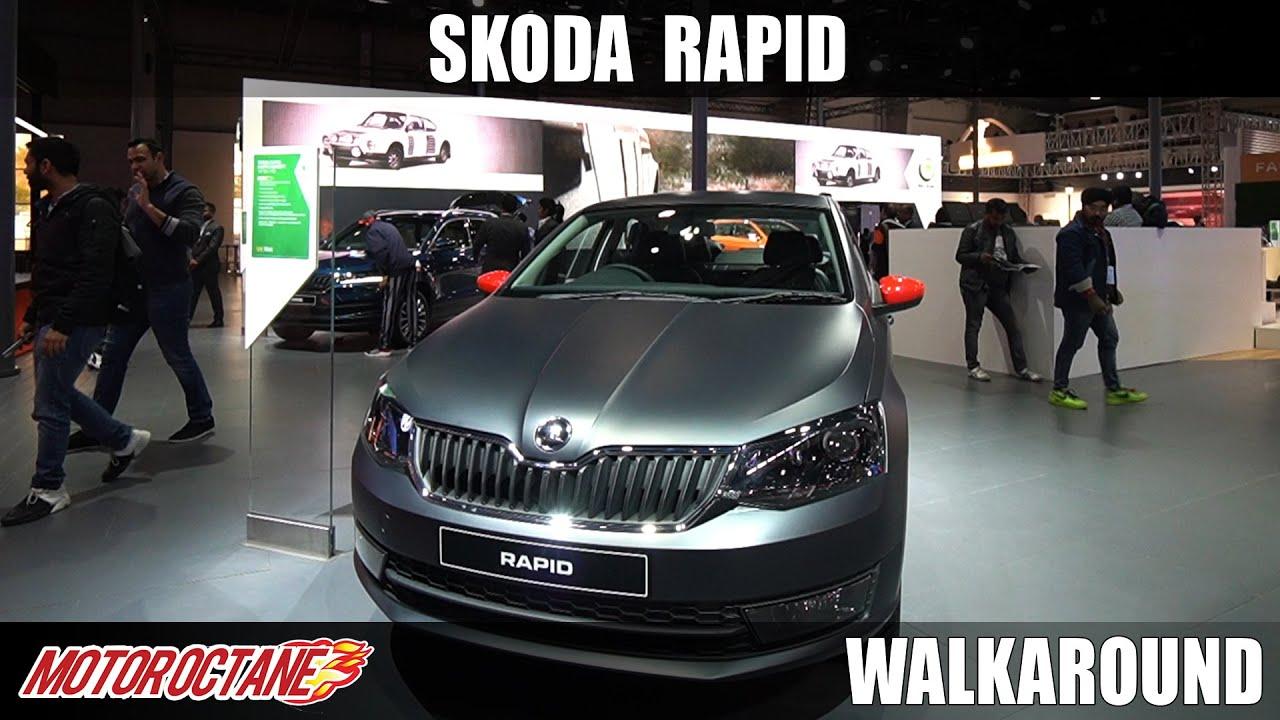 Motoroctane Youtube Video - Skoda Rapid 1.0 TSi - Concept Matte | Auto Expo 2020 | Hindi | Motoroctane