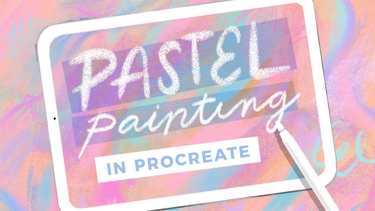 Пастель в Procreate // пастельными кистями НОВОГО художника