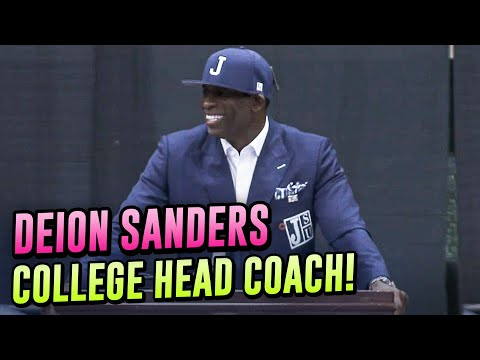 Deion Sanders Is The New HEAD COACH Of Jackson State! Exclusive Look At His 1st Press Conference!
