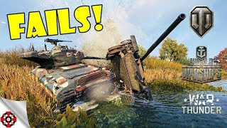ARMORED FAILS - Funny & Epic Moments from WOT, WOWS, WT! (August 2018)