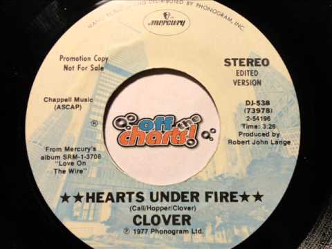 Clover - Hearts Under Fire ■ Promo 45 RPM 1977 ■ OffTheCharts365