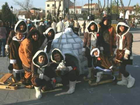 Esquimales en Carranque. Carnaval 2009