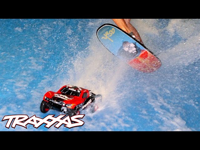 Indoor Hydroplaning with Pro Wake Surfer! | Traxxas Slash 4X4