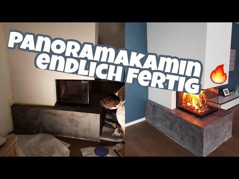Hausbau Blog 52| Panoramakamin in Betonoptik spachteln| Möbel aussuchen|  Die Siwuchins