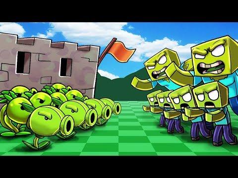 Minecraft   PLANTS VS ZOMBIES BOSS CHALLENGE! (ZOMBIE BOSS ATTACKS)