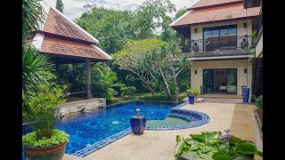 Luxury Private Five Bedroom Tropical Pool Villa for Sale in Nai Harn Baan Bua