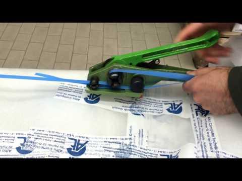 Tutorial  -  Palette mit Umreifungsband und Bandspanner sichern