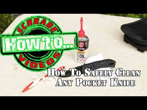 How to Safely Clean Any Pocket Knife