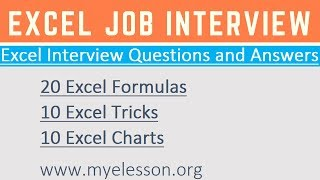 Excel Interview Questions & Answers ☑️