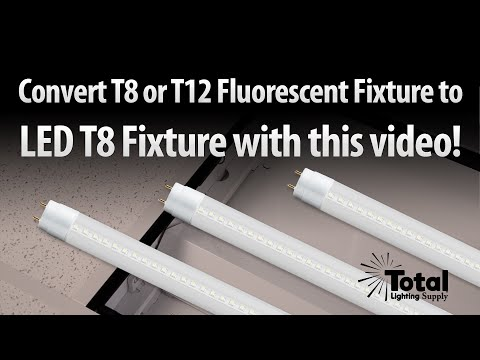How to change your T8 Fluorescent fixture to a retrofit T8 LED fixture