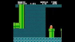 スーパーマリオブラザーズ マイナス1面に行く裏技画像